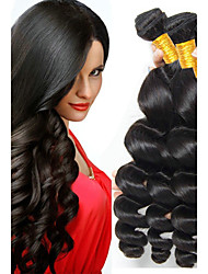 cheap -Indian Hair Wavy Gifts / Cosplay Suits / Natural Color Hair Weaves 4 Bundles 8-28 inch Human Hair Weaves Waterfall / Hot Sale / 100% Virgin Natural Black Human Hair Extensions Women's