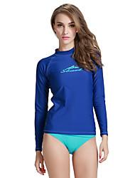 cheap -SBART Women's Diving Rash Guard SPF50, UV Sun Protection, Quick Dry Spandex Long Sleeve Swimwear Beach Wear Sun Shirt / Top Classic Diving / Stretchy