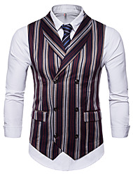 cheap -Men's Business Basic Vest-Striped