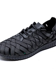 cheap -Men's Knit / Elastic Fabric Summer Comfort Athletic Shoes Running Shoes White / Black