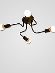 baratos -4-luz Montagem do Fluxo Luz Ambiente Acabamentos Pintados Metal 110-120V / 220-240V Lâmpada Não Incluída / E26 / E27