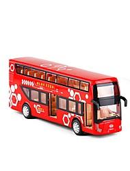 Недорогие -Игрушечные машинки Автобус Двухэтажный автобус Вид на город Металл Детские Для подростков Все Мальчики Девочки Игрушки Подарок 1 pcs