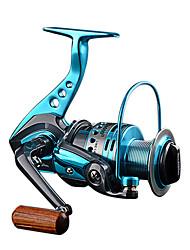 economico -Mulinelli da pesca Mulinelli per spinning 5.5:1 Rapporto di trasmissione+12 Cuscinetti a sfera Mano Orientamento Intercambiabile Pesca di mare / Pesca con esca