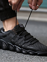 저렴한 달리기-남성용 운동화 PU 워킹 / 달리기 / 조깅 통기성, 편안함, 미끄럼 통풍 메쉬 화이트 / 블랙 / 그레이