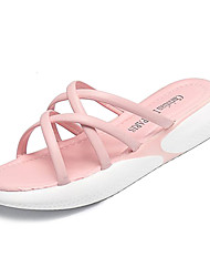 cheap -Women's Shoes PU(Polyurethane) Summer Slingback Slippers & Flip-Flops Creepers White / Black / Pink