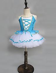 cheap -Ballet Dresses Girls' Performance Spandex Ruching / Split Joint Sleeveless Dress
