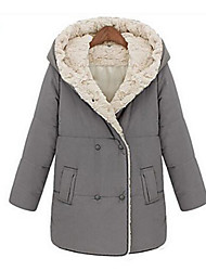 preiswerte -Damen - Solide Grundlegend Mantel / Winter