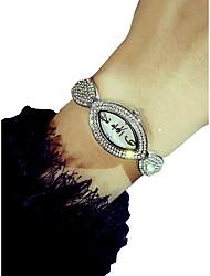 abordables -Femme Montre Bracelet Quartz Chronographe Lumineux Adorable Alliage Bande Analogique Etincelant Elégant Argent / Doré - Or Argent / Imitation de diamant