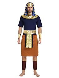 baratos -Fantasias Egípcias Roupa Homens Dia Das Bruxas / Carnaval / Dia da Criança Festival / Celebração Trajes da Noite das Bruxas Tinta Azul Sólido / Halloween Dia Das Bruxas
