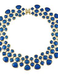 Недорогие -Жен. Толстая цепь Ожерелья-бархатки Свисающие Дамы Простой Мода Лиловый Синий Светло-Зеленый 43 cm Ожерелье Бижутерия 1шт Назначение Вечеринка / ужин Школа