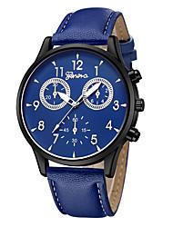 Недорогие -Geneva Жен. Наручные часы Китайский Новый дизайн / Повседневные часы / Cool Кожа Группа На каждый день / Мода Черный / Синий / Коричневый