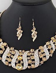 abordables -Femme Chaîne épaisse Ensemble de bijoux - Elégant, Classique Comprendre Boucles d'oreille goutte Col Arc-en-ciel / Rouge / Champagne Pour Mariage Soirée
