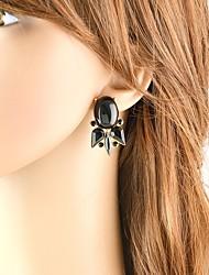 cheap -Women's Tourmaline Cross Body Drop Earrings - Fish, Lucky Basic, Fashion Green / Blue / Pink For Daily / Date