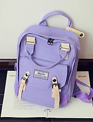 cheap -Women's Bags Canvas School Bag Pattern / Print Blushing Pink / Purple / Light Purple
