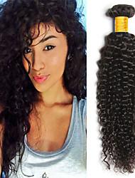 baratos -4 pacotes Cabelo Indiano Kinky Curly Cabelo Humano Ternos de Cosplay / Peça para Cabeça / Cabelo Humano Ondulado 8-28 polegada Tramas de cabelo humano Recém nascido / Fantasias / Macio Côr Natural