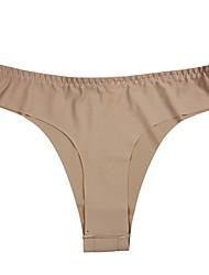 abordables -Mujer Tanga Un Color Baja cintura
