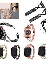 economico -Cinturino per orologio  per Apple Watch Series 4/3/2/1 Apple fibbia a farfalla Acciaio inossidabile Custodia con cinturino a strappo