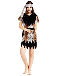 cheap -Primitive Outfits Women's Halloween / Carnival / Children's Day Festival / Holiday Halloween Costumes Brown Solid Colored / Polka Dot / Halloween Halloween