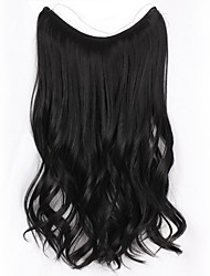 cheap -Synthetic Extentions Curly Synthetic Hair 20 inch Hair Extension Flip In Natural 1set Women Extention Women's Daily Wear