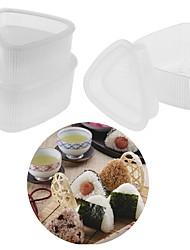 baratos -4 pcs cozinha bento decoração sushi onigiri molde imprensa de alimentos forma triangular fabricante de bola de arroz transparente