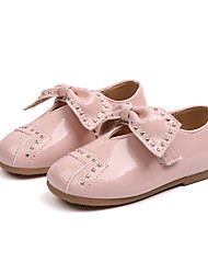cheap -Girls' Shoes PU(Polyurethane) Fall & Winter Flower Girl Shoes Flats Walking Shoes Bowknot for Kids Black / Pink / Light Brown