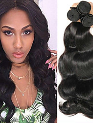cheap -Malaysian Hair Body Wave Gifts / Natural Color Hair Weaves / Tea Party Favors 4 Bundles 8-28 inch Human Hair Weaves Hot Sale / Thick / For Black Women Natural Color Human Hair Extensions Women's