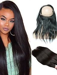 cheap -Brazilian Hair Wavy Hair Weft with Closure 4 Bundles With Closure 10-26 inch Human Hair Weaves 360 Frontal Party / Classic / Women Natural Black Human Hair Extensions Women's