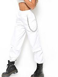 baratos -Mulheres Punk & Góticas Chinos Calças - Sólido