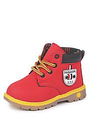 Недорогие -Мальчики Обувь Полиуретан Наступила зима Удобная обувь / Модная обувь Ботинки Для прогулок для Дети Серый / Коричневый / Красный