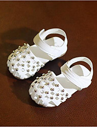 cheap -Girls' Shoes PU(Polyurethane) Spring & Summer Comfort Sandals Walking Shoes Rivet for Toddler White / Light Purple / Pink