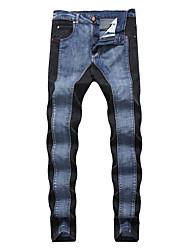 economico -Per uomo Taglie forti Cotone Taglia piccola Jeans Pantaloni - Monocolore / Sport