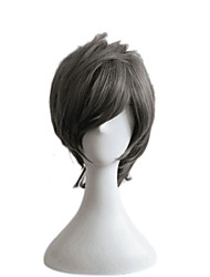 cheap -Toupees Straight Layered Haircut Synthetic Hair Cosplay / Party Gray Wig Men's Short Capless
