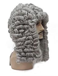 Недорогие -Маскарадные парики Волнистый Серый Средняя часть Серый Искусственные волосы Муж. синтетический Серый Парик Средняя длина Без шапочки-основы StrongBeauty