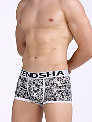 cheap -Men's Boxers Underwear / Briefs Underwear Geometric / Letter Mid Waist