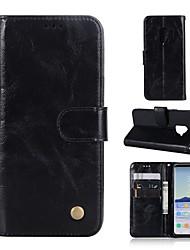 ieftine -Maska Pentru Samsung Galaxy S9 Plus / S9 Portofel / Titluar Card / Cu Stand Carcasă Telefon Mată Greu PU piele pentru S9 / S9 Plus / S8 Plus