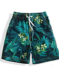 cheap -Boys' Swimming Trunks Ultra Light (UL), Quick Dry POLY Swimwear Beach Wear Board Shorts / Bottoms Floral / Botanical Surfing / Beach / Watersports