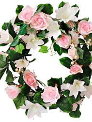 economico -Fiori Artificiali 1 Ramo Da parete Rustico Rose Ghirlande e fiori da appendere