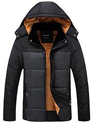 cheap -Men's Padded - Color Block Hooded / Long Sleeve