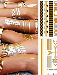 abordables -5 pcs Tatouages Autocollants Tatouages temporaires bracelet Design Tendance / Décoration Arts du Corps bras / cheville / Autocollant de tatouage