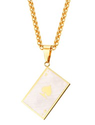 cheap -Men's Rope Pendant Necklace - Stainless Steel Letter Fashion Gold, Black 55 cm Necklace 1pc For Gift, Daily