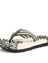 Недорогие -Муж. ПВХ Лето Обувь через палец Тапочки и Шлепанцы Коричневый / Зеленый / Синий