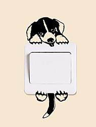 Недорогие -Декоративные наклейки на стены / Наклейки для выключателя света - Наклейки для животных Животные Гостиная / Спальня / Ванная комната
