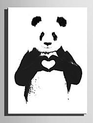 Недорогие -С картинкой Отпечатки на холсте - Животные Любовь и сердца Modern