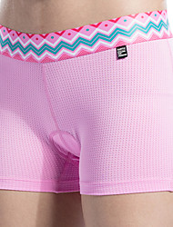 abordables -SANTIC Femme Sous-Vêtements de Cyclisme Vélo Cuissard  / Short / Shorts Sous-vêtements / Shorts Rembourrés Respirable, Anti-transpiration Mode Polyester Violet / Rose dragée clair Tenues de Cyclisme