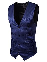 cheap -Men's Vintage Street chic Vest-Floral,Jacquard