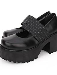 cheap -Lolita Shoes Gothic Lolita Dress Punk Lolita Dress Punk Wedge Heel Shoes Lolita 8 cm CM Black / Brown For PU(Polyurethane) Halloween Costumes