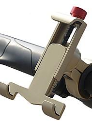 baratos -Base de Telefone Para Bicicleta Celular, 360 Rotating Moto silica Gel / Aluminum Alloy Dourado / Preto / Vermelho