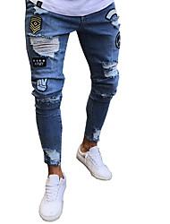 economico -Per uomo Moda città / Punk & Gotico Jeans Pantaloni - Tinta unita