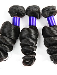 cheap -3 Bundles Malaysian Hair Loose Wave Human Hair Natural Color Hair Weaves / Tea Party Favors / One Pack Solution 8-28 inch Human Hair Weaves Creative / Best Quality / Hot Sale Natural Color Human Hair