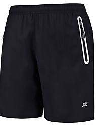 cheap -Men's Zipper / Pocket Running Shorts - Black, Blue Sports Shorts Fitness, Gym, Workout Activewear Quick Dry, Breathable, Lightweight Materials Stretchy / Reflective Strips